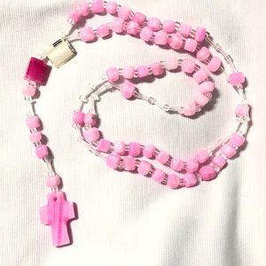 Pink Onyx gemstone Rosary 💕